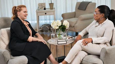 Amy Schumer talks with Oprah Winfrey on the