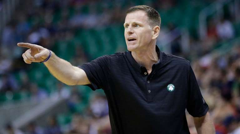 Celtics summer league head coach Jay Larranaga directs