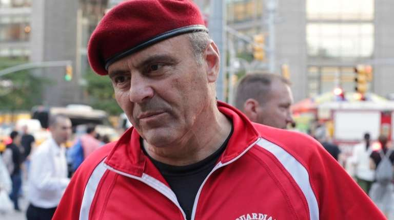 Guardian Angels founder Curtis Sliwa during a news
