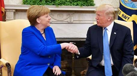 Germany Chancellor Angela Merkel and President Donald Trump