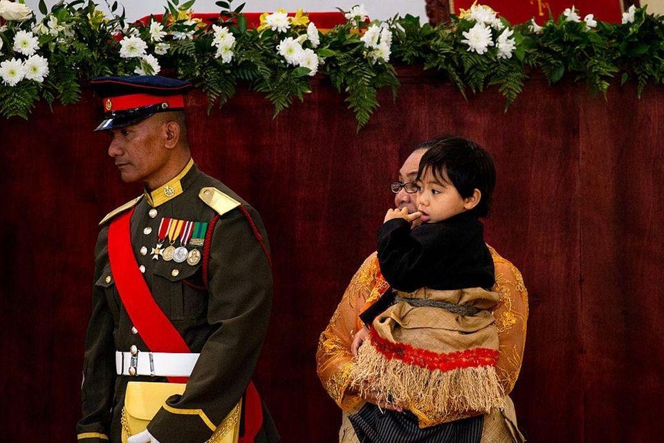 Prince Taufa'ahau Manumataongo Tuku'aho at the Free Wesleyan