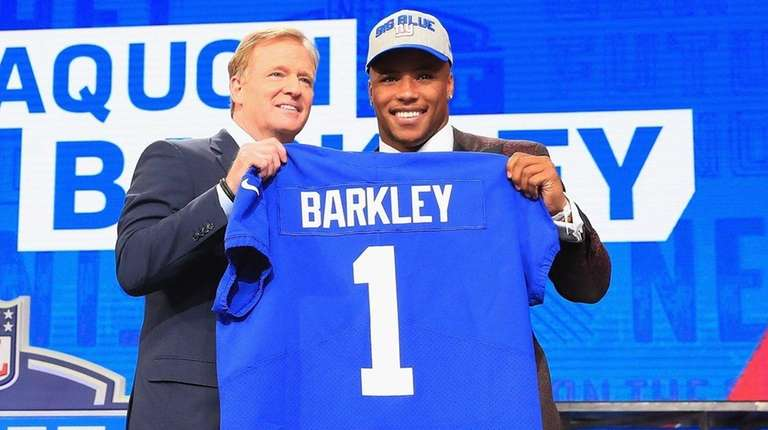 Image result for saquon barkley nfl draft photo