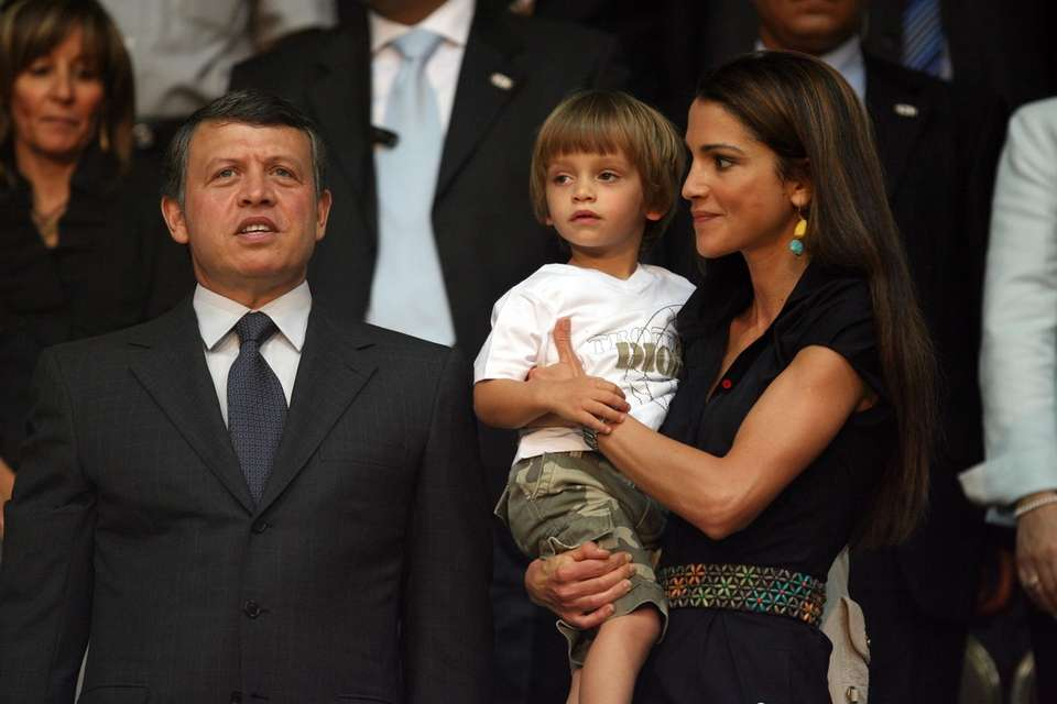 Jordan's King Abdullah II with his wife Queen