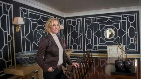 Designer Sherrill Canet in the dining room of