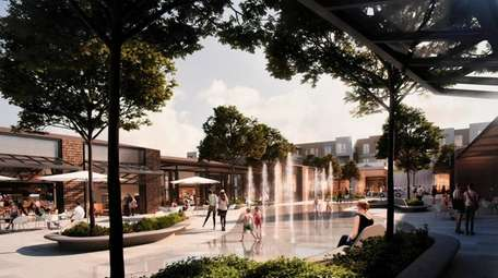 A rendering of the Syosset Park mixed-use project
