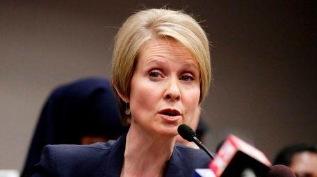 Gubernatorial candidate Cynthia Nixon says New York's