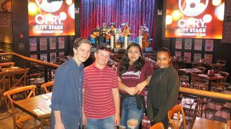 Kidsday reporters, from left, Scott Vinski, Dylan Fitzgerald,
