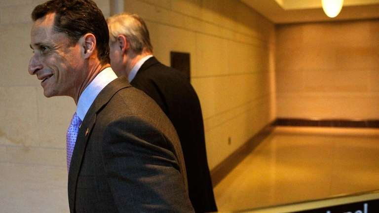 U.S. Rep. Anthony Weiner (D-N.Y.) arrives for a
