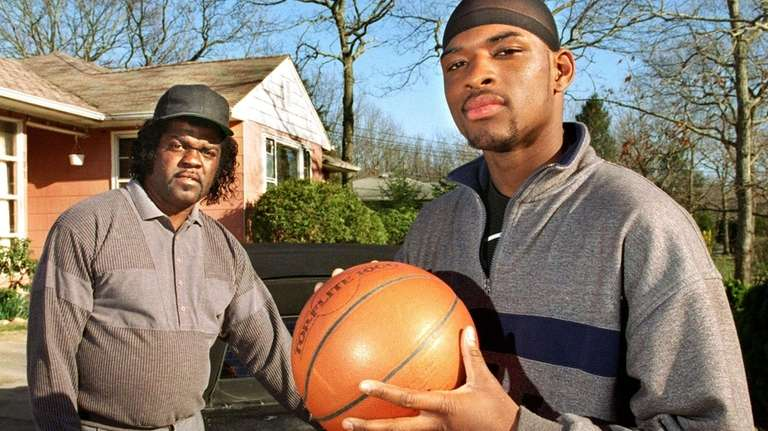 Maurice Manning, right, and his dad, David, are