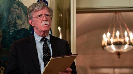National Security Adviser John Bolton, seen here on