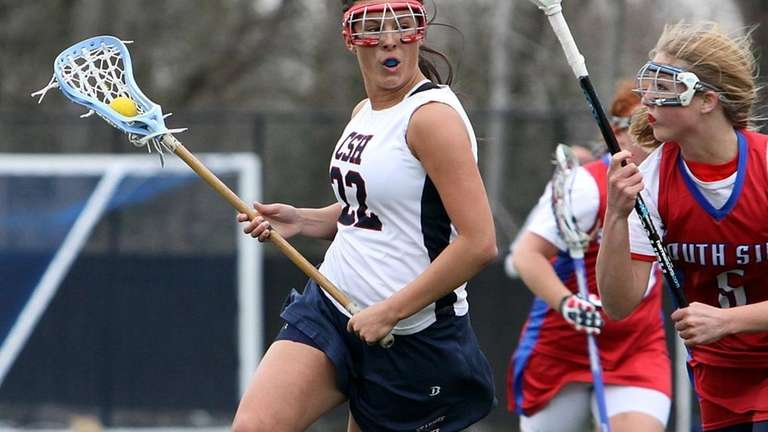 Cold Spring Harbor's Victoria Kotowski looks for an