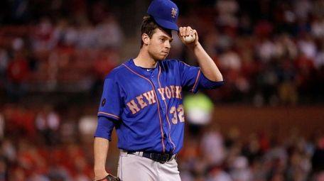 New York Mets starting pitcher Steven Matz waits