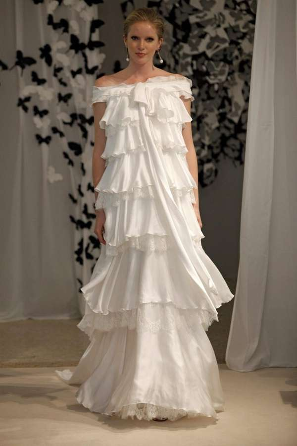Francesco Fino Atelier's silk voile satin and lace,