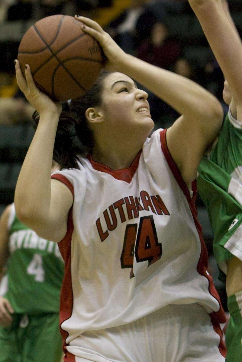 L.I. Lutheran's Jessica Denicola goes up strong during