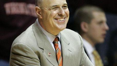 FILE - Virginia Tech coach Seth Greenberg smiles