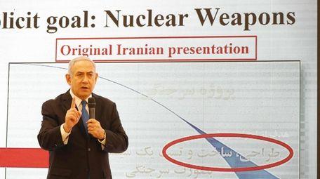 Israeli Prime Minister Benjamin Netanyahu speaks at the
