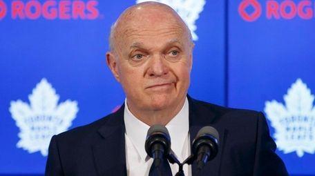 Toronto Maple Leafs GM Lou Lamoriello speaks to