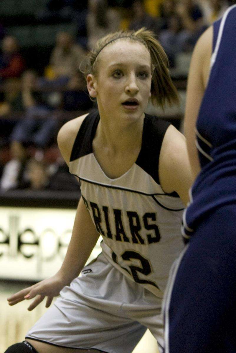 St. Anthony's Rebecca Musgrove plays tight defense during
