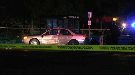 A motorist was struck by a hit-and-run driver