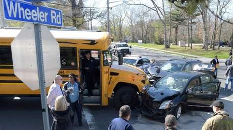 A school bus was involved in a crash