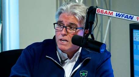 Mike Francesa at the WFAN studios in Manhattan