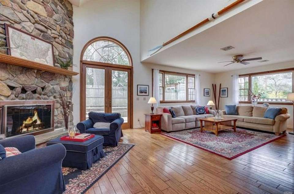 The living room in this Glen Head Colonial