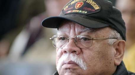 Hugh Reyes of Uniondale, a Vietnam Veteran, attends