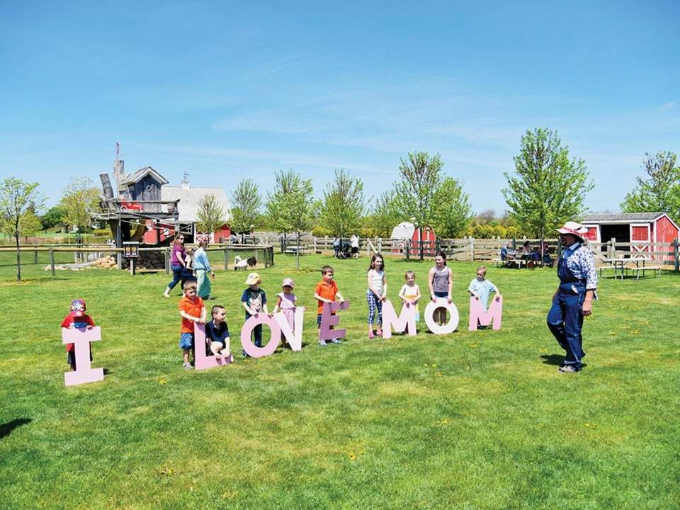 Moms get free admission to the Barnyard Adventures,
