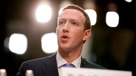 CEO Mark Zuckerberg, shown April 10 in Washington,