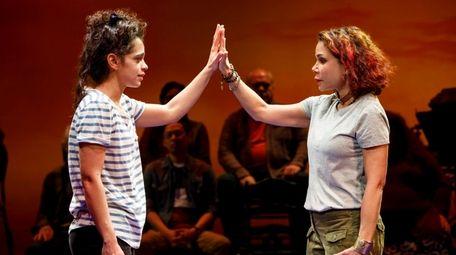 Gizel Jiménez, left, and Daphne Rubin-Vega star in