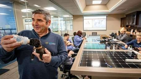 SUNation Solar CEO Scott Maskin and his employees