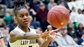 Baldwin's Kaia Harrison passes the ball against Ossining