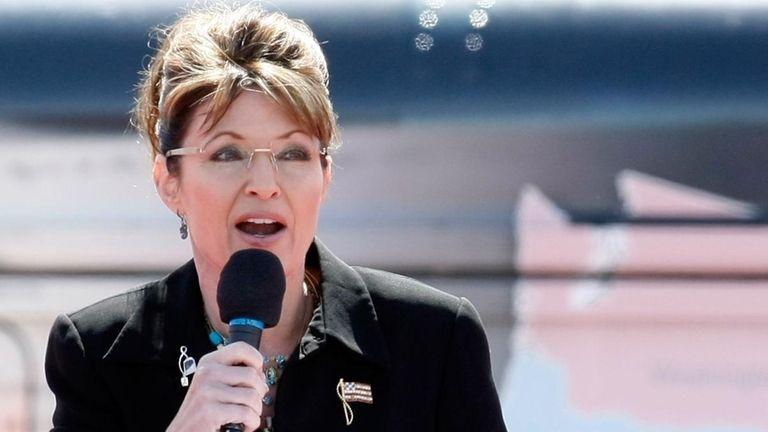 Former Alaska Gov. Sarah Palin speaks at the