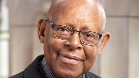 A 2017 photo of theologian James H. Cone.