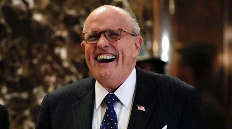 Rudy Giuliani, seen here at Trump Tower on