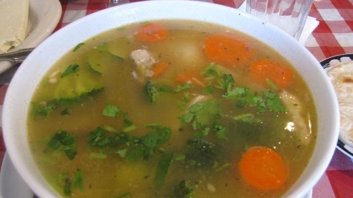 Chicken soup at El Tazumal in Glen Cove.
