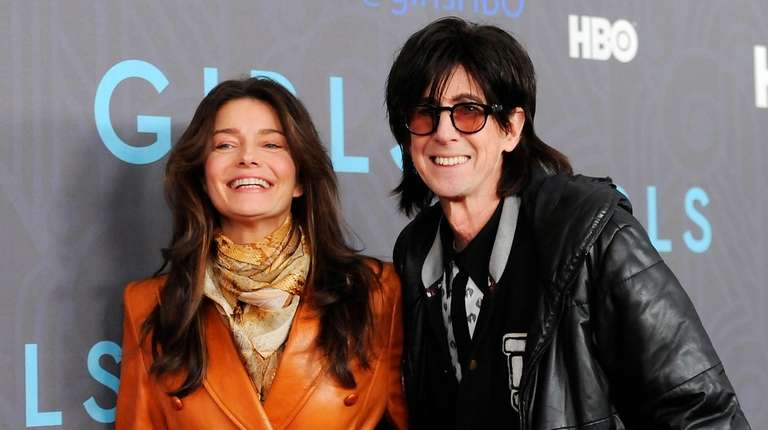 Musician Ric Ocasek and wife model Paulina