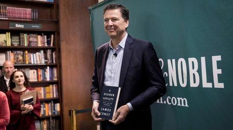 Former FBI Director James Comey promotes his book,