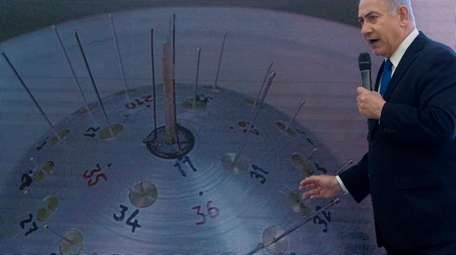 Israeli Prime Minister Benjamin Netanyahu presents his case