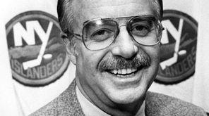 Islanders general manager Bill Torrey at Nassau Coliseumon