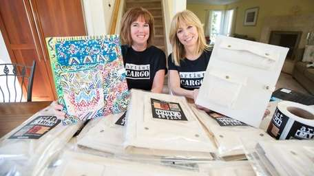 Eileen Baumeister McIntyre, left, and Patti Kern, with