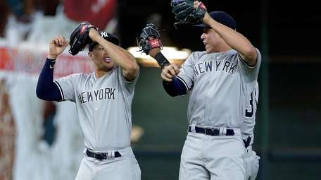 Yankees' Giancarlo Stanton, Aaron Judge and Aaron Hicks