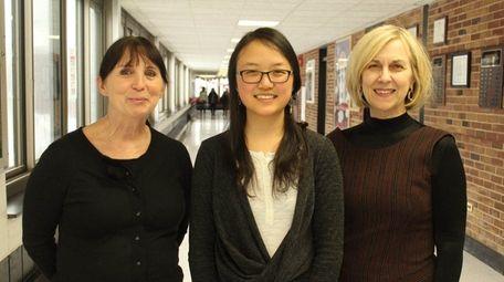 Allison Lin, center, has been named the winner