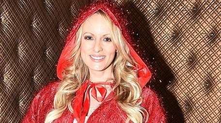 Stormy Daniels in her dressing room before her