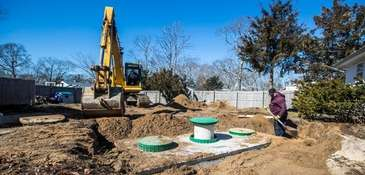 A septic system being that uses filtration and