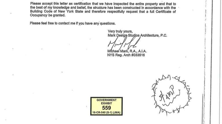 A letter authorizing the issuance of a certificate
