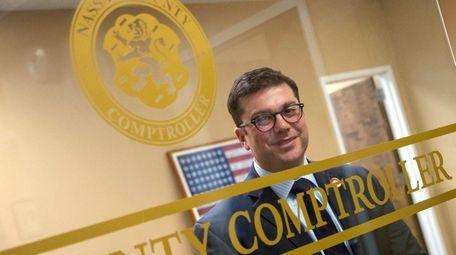Nassau Comptroller Jack Schnirman in his office on