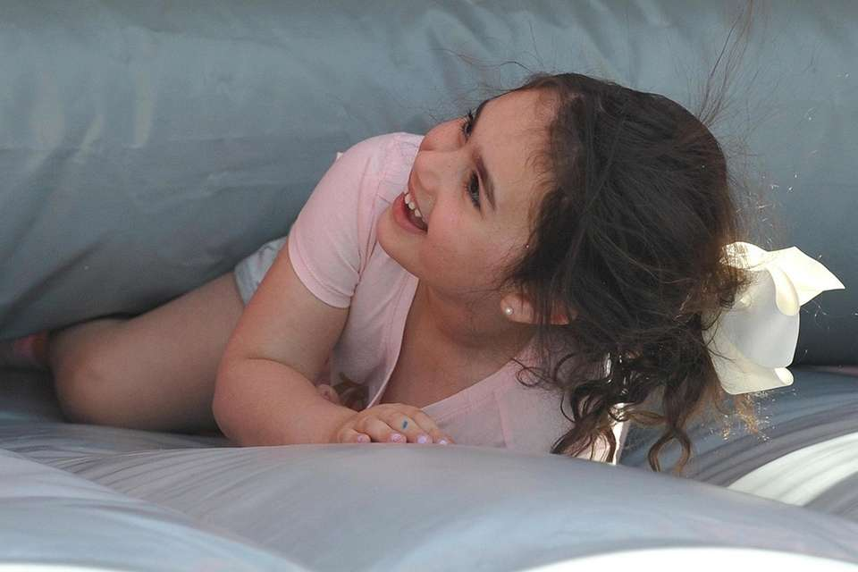Emma Bosman, 5, of Massapequa Park has fun