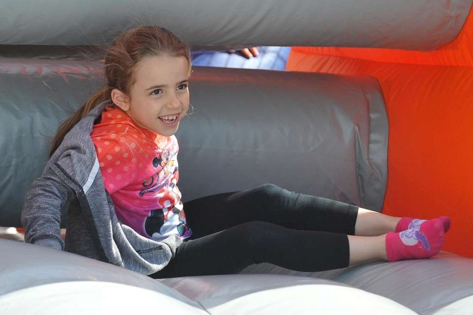Mia DelVecchio, 6, of Massapequa Park has fun