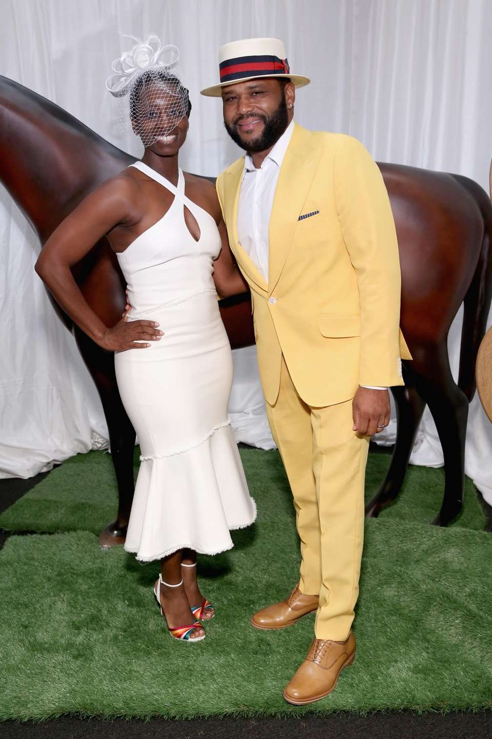 Actor Anthony Anderson attends Kentucky Derby 144 on